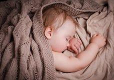 Slaapbaby Royalty-vrije Stock Afbeeldingen