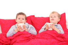 In slaapkamer Royalty-vrije Stock Afbeelding