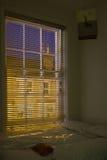 Slaapkamer bij nacht Stock Fotografie