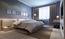 Slaapkamer binnenlandse, moderne stijl Stock Fotografie