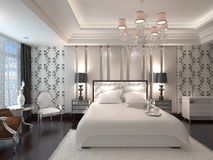 Slaapkamer het Binnenlandse 3D Teruggeven Stock Fotografie