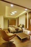 Slaapkamer in huis, Calicut, India Stock Afbeeldingen