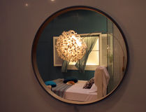 Slaapkamer - huisbinnenland royalty-vrije stock afbeeldingen