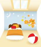 Slaapkamer met bloem vector illustratie