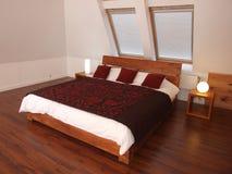 Slaapkamer met grote slecht Royalty-vrije Stock Foto's