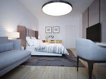 Slaapkamer moderne stijl Stock Afbeelding