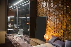 Slaapkamer in moderne stijl Royalty-vrije Stock Foto's
