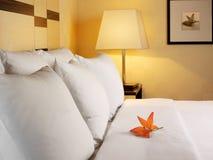 Slaapkamer, romantische situatie Stock Afbeeldingen