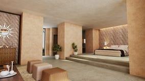Slaapkamer van Arabische stijl Stock Fotografie