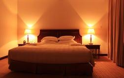 Slaapkamer van de luxe de moderne stijl Stock Afbeelding
