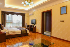 Slaapkamer van Luxereeksen Royalty-vrije Stock Foto's