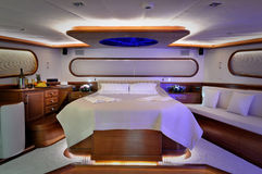 Slaapkamer van zeilboot royalty-vrije stock foto's
