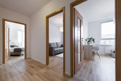 Slaapkamers in moderne flat Royalty-vrije Stock Foto's