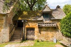 Slaapkamertreden, Snowshill-Manor, Gloucestershire, Engeland stock fotografie