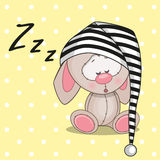 Slaapkonijn vector illustratie