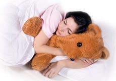 Slaapmeisje stock fotografie