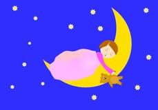 Slaapmeisje Stock Afbeeldingen