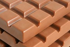 Slab chocolate Stock Photography
