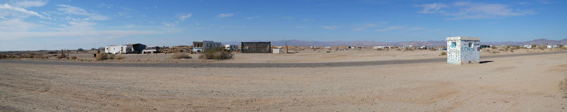 Slab City Panorama Royalty Free Stock Images