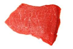 Slab of fresh beef isolated on white Stock Photos
