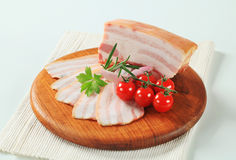 Slab of pork belly Royalty Free Stock Images
