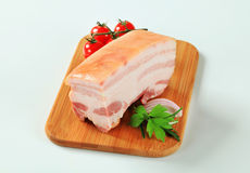 Slab of pork belly Stock Images