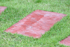 Slab of red stone. Royalty Free Stock Photo