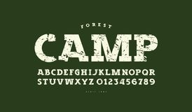 Slab serif font in classic style royalty free stock photo