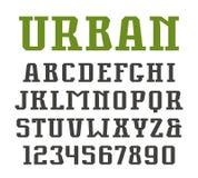 Slab serif font in urban style Stock Image