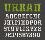 Slab serif font in urban style Royalty Free Stock Photo