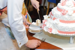 Slab of Wedding Cake Royalty Free Stock Images