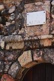 Slabe on the entrance of a lighthouse. Close up of a slabe in the entrance of a lighthouse in a small portuguese vilage of Nazar Stock Image