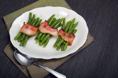 Slabonen die in bacon worden verpakt Royalty-vrije Stock Foto's