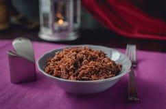 Slabonen met geroosterde kippenborst en romige saus beautif Royalty-vrije Stock Fotografie