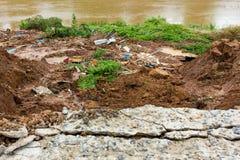 Slabs with landslide. Stock Photo