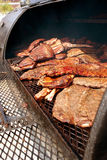 Slabs Of Ribs Cook On Grill At Barbeque Festival Royalty Free Stock Photography