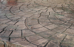 Slabs of stone. Brown decorative pavers of stone Stock Photo