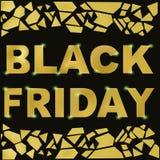 Slace di Black Friday Modello di vettore Bandiera nera di vendita di venerdì royalty illustrazione gratis