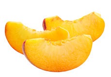 Slace peach fruit Royalty Free Stock Photo
