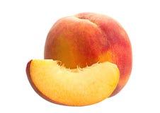 Slace peach fruit Stock Photography