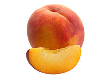 Slace peach fruit Royalty Free Stock Photography