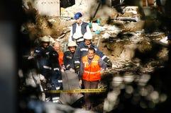 Slachtoffer in lichaamszak na de bom Istanboel van HSBC van 2003 Royalty-vrije Stock Foto