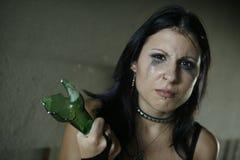 Slachtoffer van agressie Stock Foto