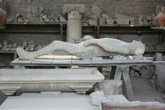 Slachtoffer van Pompei Stock Foto's