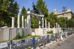 Slachtoffers van Nazi Occupation Memorial in Boedapest royalty-vrije stock foto