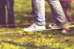Slack-line Stock Photography