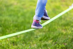 Slack line Stock Photos