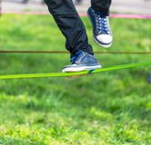 Slack line Royalty Free Stock Photography
