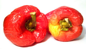 Slack red-yellow peppers Royalty Free Stock Photography