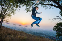 Slackline Photo stock